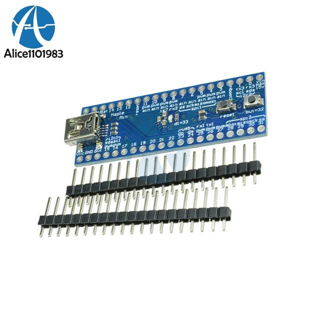 STM32F103RC8T6 Maple 32 ARM Cortex-M3 3 3V 72MHz 128KB Flash Board Mini USB  Module For Arduino With SPI I2C IIC USART PWM 34Pins