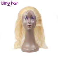 Clover Leaf 613 Blonde Brazilan Raw Hair Body Wave 3 Bundles With 360 Lace Frontal Non Remy Human Hair For Salon Hair Extension