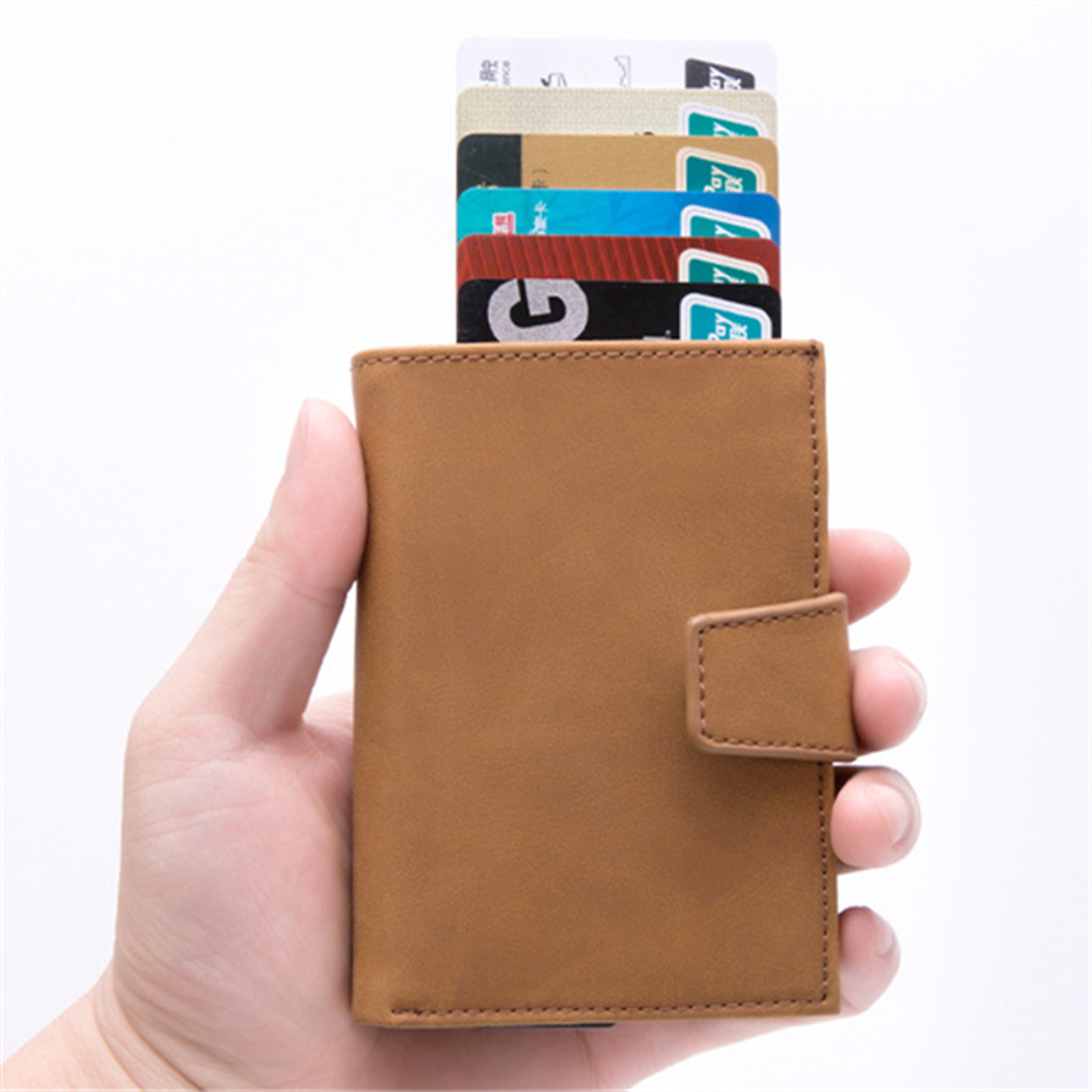 Wholesale 2019 New Style RFID Card Holder Minimalist Men Wallet Metal Id Holders Aluminium Blocking Credit