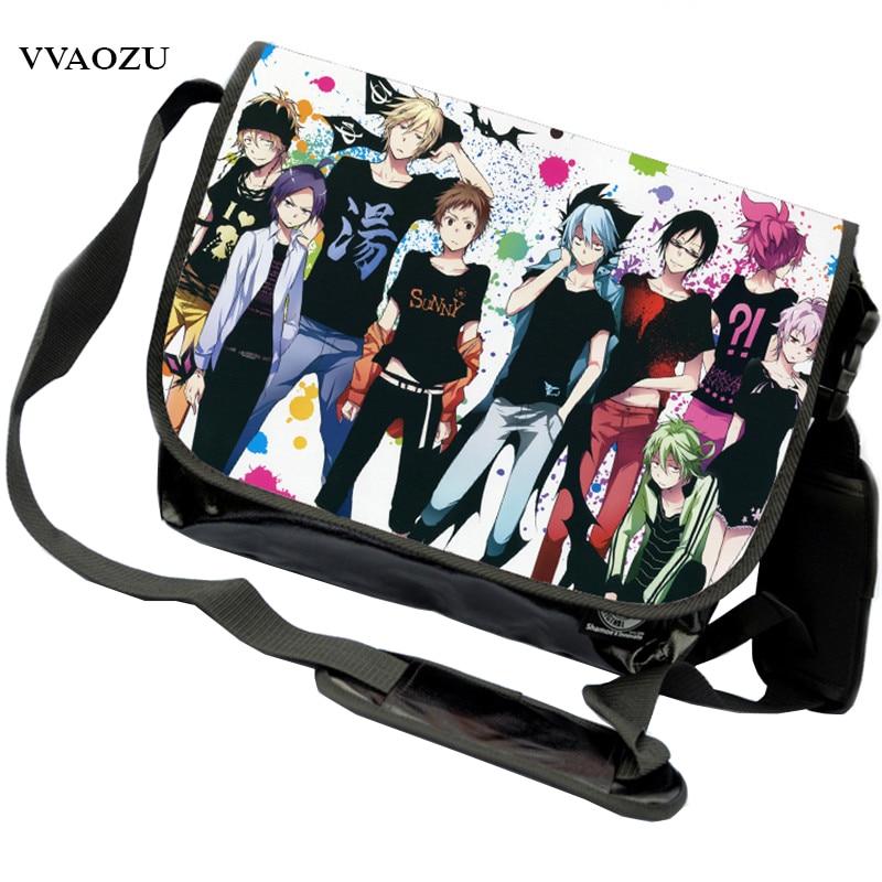Anime Servamp Harajuku Shoulder Crossbody Bag Women's Men's Canvas Messenger Bag Leisure Campus Bookbag For Laptop