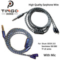 Tingo Original 1.2m 64 Shares Bare Copper Wire Earphone Cables Headphones Line Wire Headset Line for IE8/IE80 SE535 215 TF UE