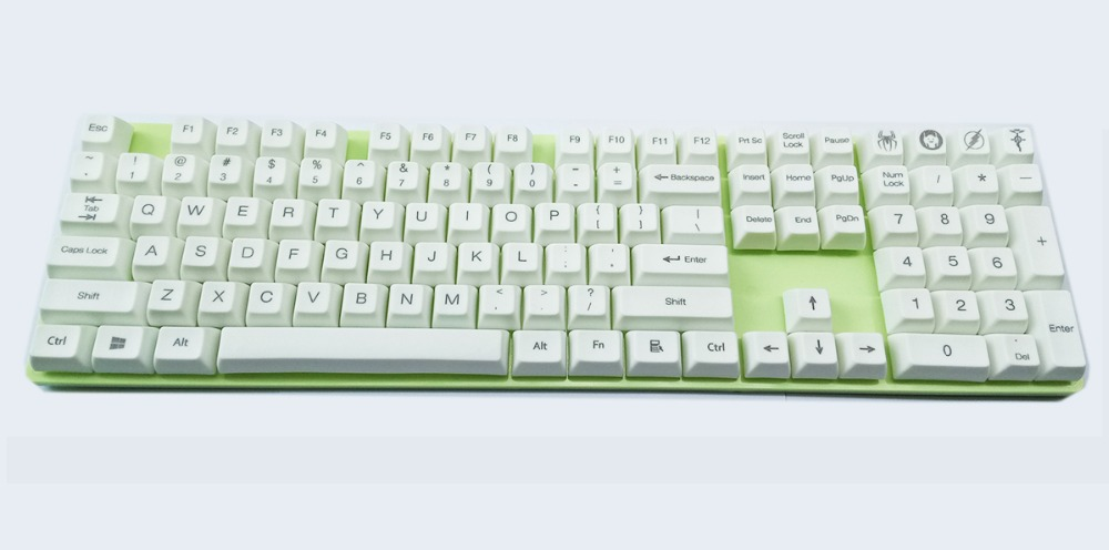 108 key SA Profile Thick PBT Keycaps Standard ANSI Top Laser etched or blank for Cherry