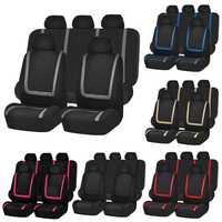 Cubierta Universal del asiento del coche de tela de poliéster fundas de asiento del automóvil cubierta del asiento del vehículo Protector de asiento accesorios interiores