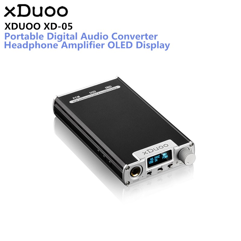 Original XDUOO XD-05 Portable Audio DAC Headphone Amplifier HD ILED Display Professional PC USB Decoding Amplifier ...