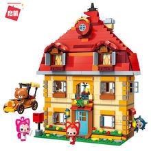 Набор строительных блоков с героями мультфильмов Али лисы кукла