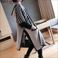 Autumn winter fashion half sleeve loose women knitted cardigan Fashion casual women long hoodie AA1619z