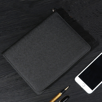 2018 New business office multifunction zipper planner notebook,Deluxe executive writing portfolio/fine manager folder stationery