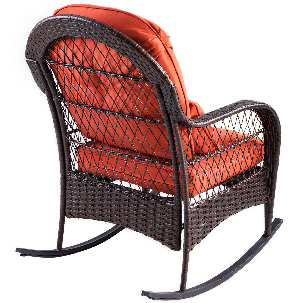 Wicker Rocking Chair Us 125 3 30 Off Aliexpress Buy Giantex Patio Rattan Wicker Rocking Chair Modern Porch Deck Rocker Outdoor Furniture With Padded Cushion