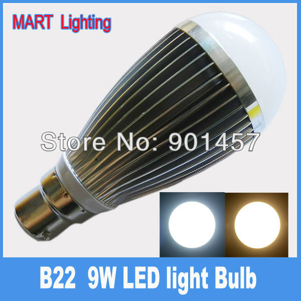 High quality B22 9W LED Bubble ball bulb lamp 950lm SMD cree high power energy saving lighting