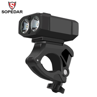 SOPEDAR 400 Lumen Bicycle LED Light Cycling Bike Flashlight Bike Front Light USB Rechargeable MTB Headlight LED SOS Accessories