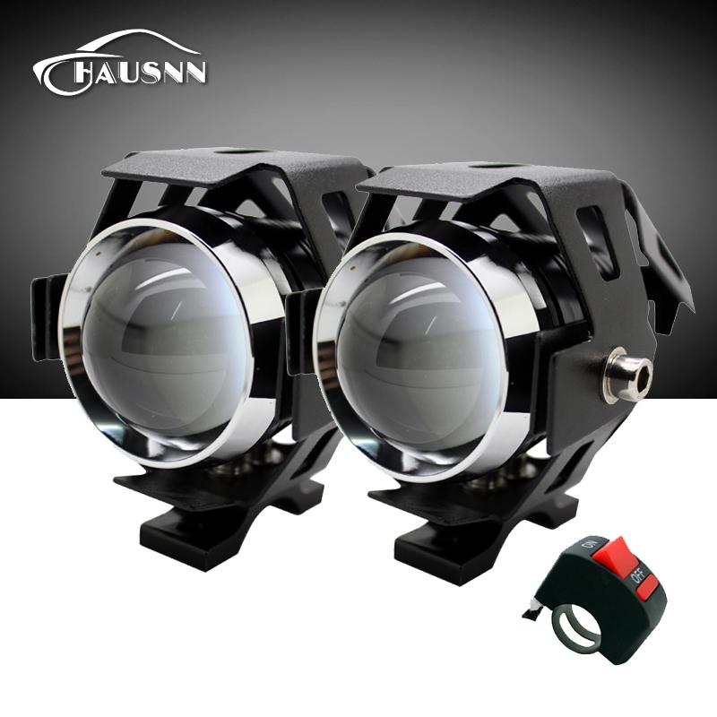 Prix pour 2 Pcs/Lot Moto Phare Haute Puissance Étanche 3000LM CREE Puce U5 Moto LED Conduite Brouillard Spot Tête Lampe Avec Interrupteur