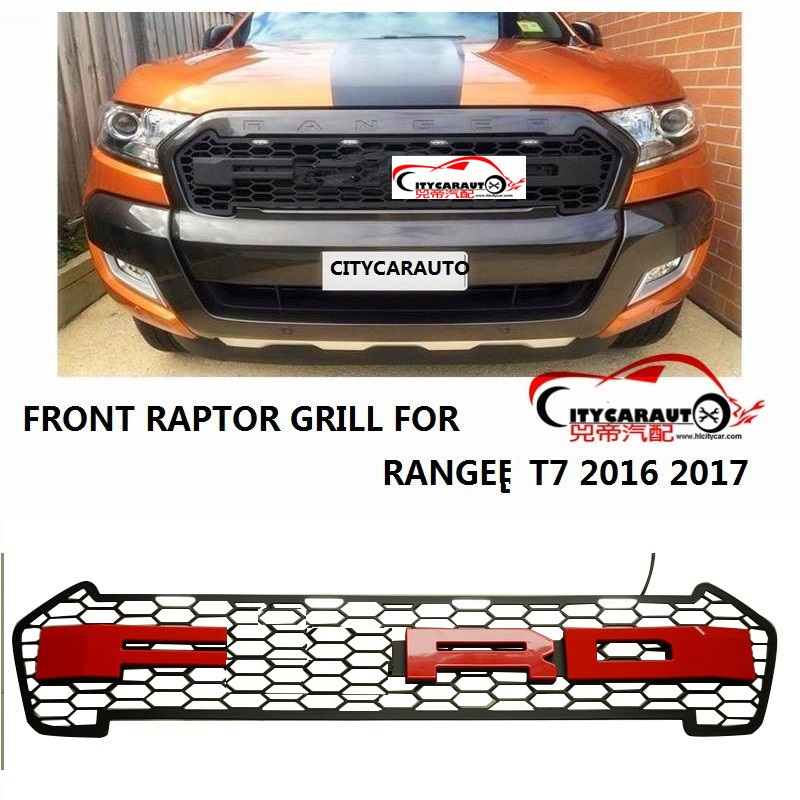 OWN DESIGN MODIFIED GRILL 4 Led front Racing grill grille black front grill trim for Ranger wildtrak T7 txl pickup CAR 2015-17 top quality front racing grill grille car styling fit for new kia sportage kx5 2016 2017 front grill racing grill with free ship