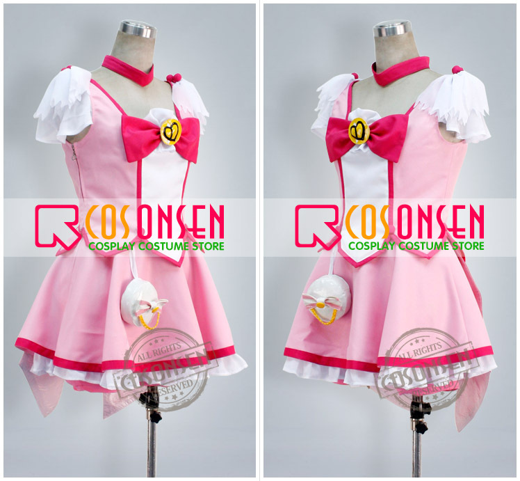 Smile PreCure Yayoi Kise Cure Peace Cosplay Costume Custom Any Size