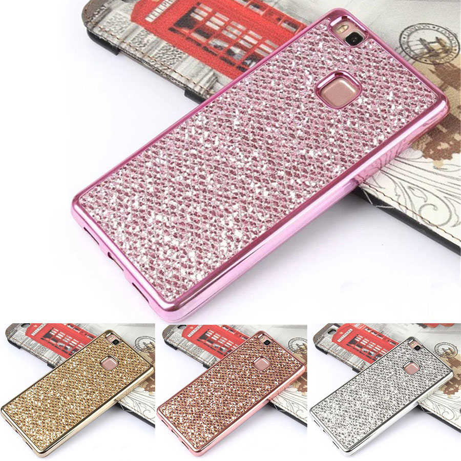 For Huawei Mate 20 Lite Honor 8 10 Lite Cute Glitter Bling Phone Cover Case for Huawei P8 P9 P10 P20 Lite Case Silicone Soft