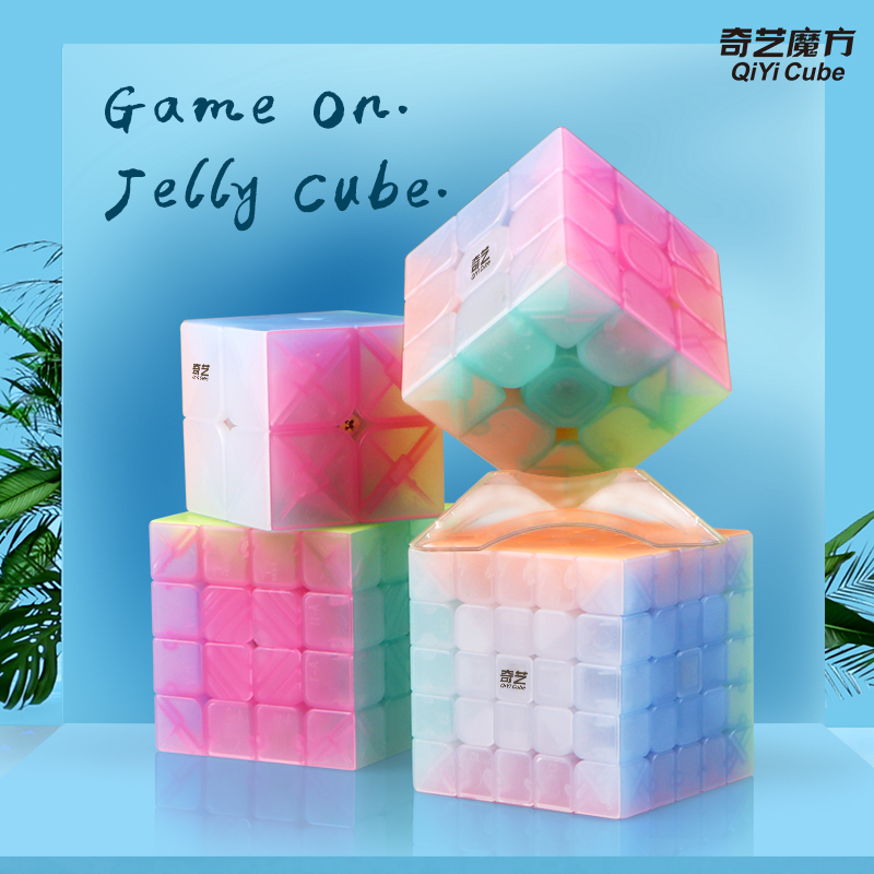 New Qiyi Jelly Color Cube Magic 2x2 Warrior W 3x3x3 4x4x4 5x5 Keychain Triangle Masterphominx SQ1 Educational Toys For Kid