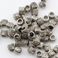 70 шт. тибет серебряные бисера барабанные шарики прокладки 7x7x6 мм 0451