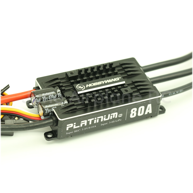 1pcs Hobbywing Platinum 80A V4 3-6S Lipo Brushless ESC for Airplane hobbywing platinum 40a v4 esc 3 4s lipo25a v4 3 6s lipo platinum brushless esc speed controller for rc drone 450 480