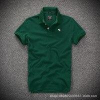 2018 New T Shirt Men Collar Tshirts T Shirt Men Slim Fit Solid Color Fitness Casual