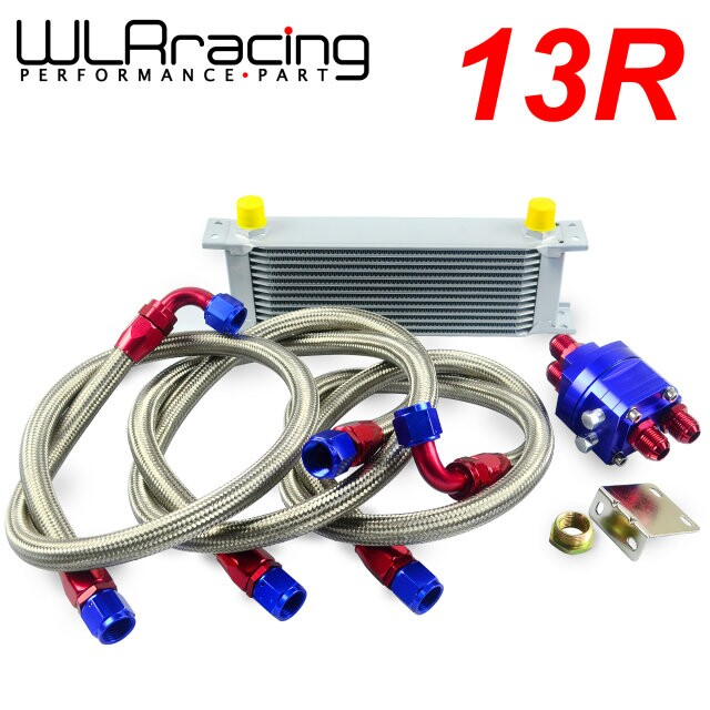 WLRING STORE- UNIVERSAL 13 ROW AN10 ENGINE TRANSMISS OIL COOLER KIT + FILTER RELOCATION BLUE managing the store