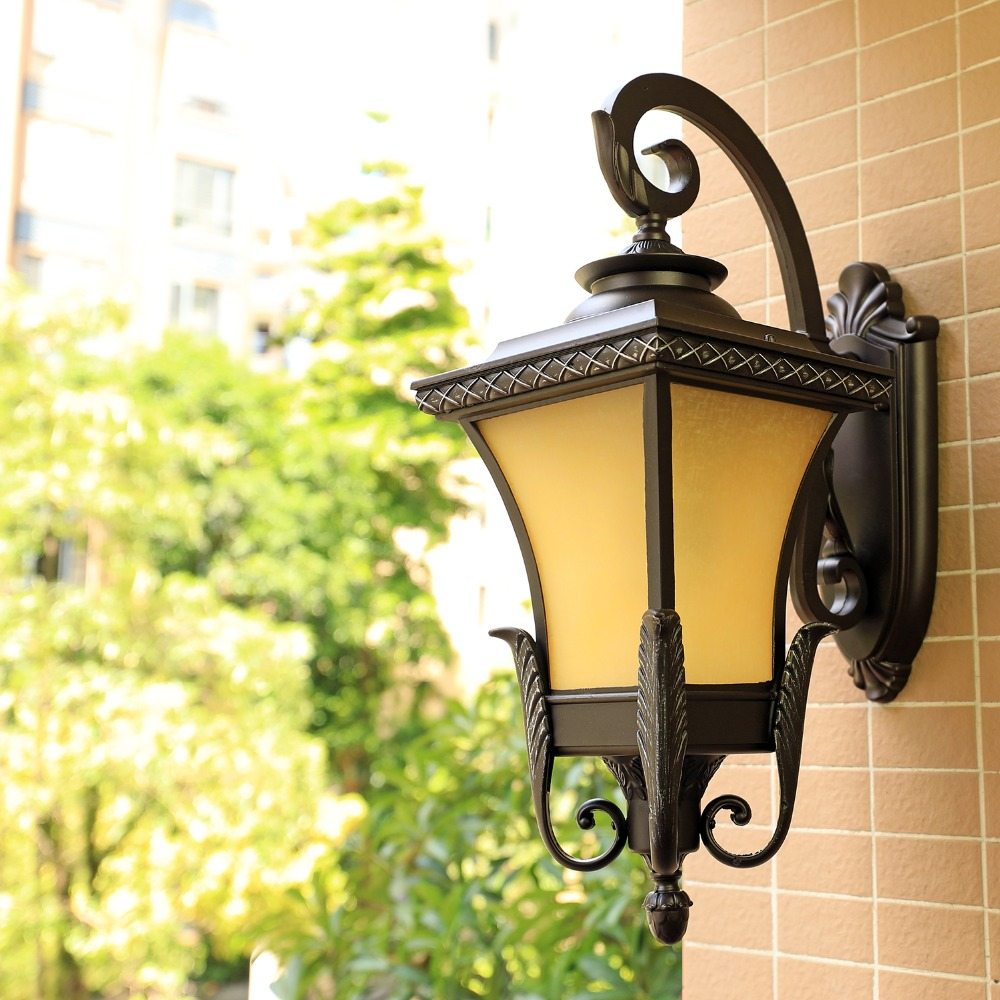 European-style retro outdoor wall lamp waterproof American-style LED balcony light staircase corridor outdoor garden wall lampEuropean-style retro outdoor wall lamp waterproof American-style LED balcony light staircase corridor outdoor garden wall lamp