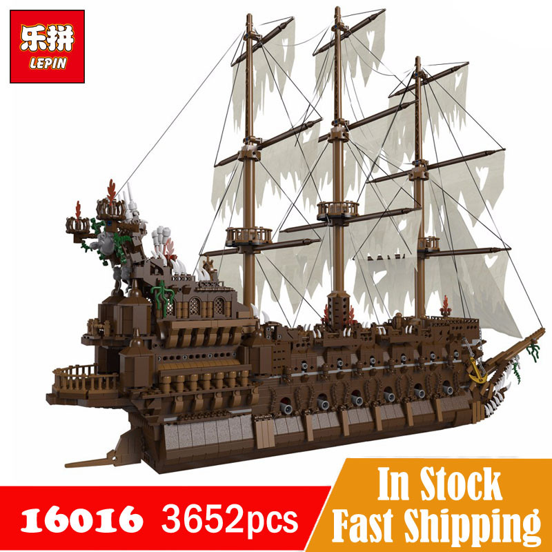 Compatible with Legoe Pirates of Caribbean Ship The Flying Dutchman Lepin 16016 3652Pcs Movies Series Building Blocks Toys Sets lepin 16016 3652pcs movie series flying the dutch blocks bricks toys for children compatible legoing pirates caribbean