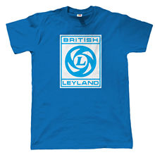 British Leyland, Mens Classic Car T-Shirt, Retro 70s 80s Funny Tops Tee New Unisex High Quality Casual Printing