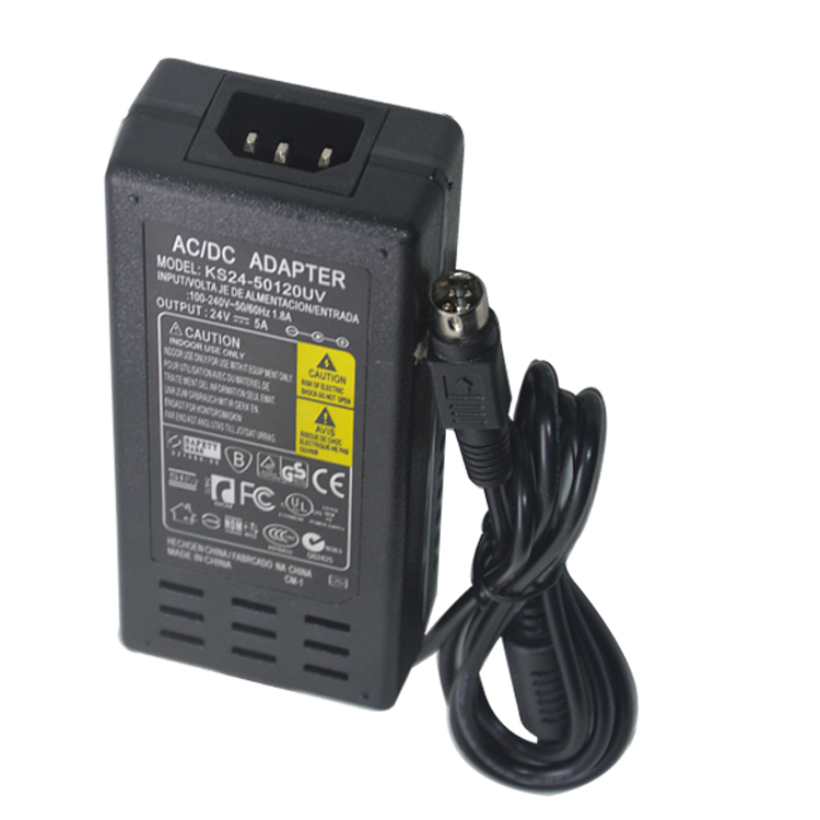 24V 5A 6A Switching Power Supply 4 needle LCD Power Supply AC DC Adapter
