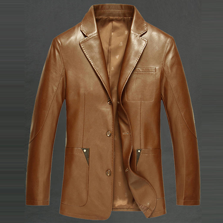 HRM Sheep Phi clothing Spring 2017 new men s leather suit Slim single leather jacket