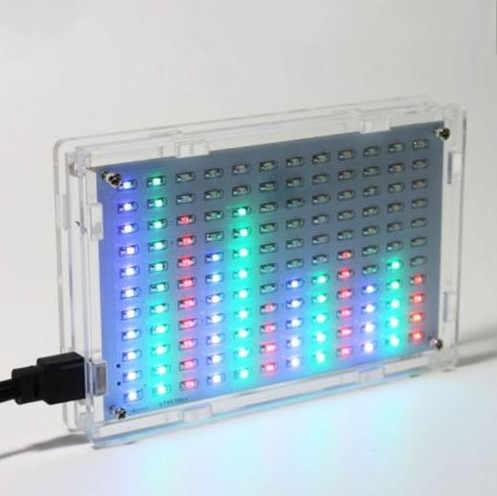 Novo Display LED Música Spectrum Analyzer Medidor de Nível de Áudio de Alta Fidelidade do Amplificador MP3 PC Kits