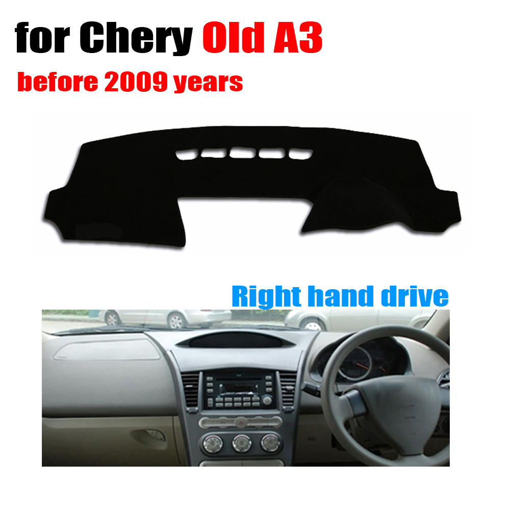 Car dashboard covers mat for Chery Old A3 before 2009 years Right hand drive dashmat pad dash cover auto dashboard accessories