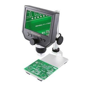 Image 1 - 600X Draagbare USB Digitale Elektronische Microscoop Vergrootglas USB Endoscoop Camera 8 LED Met HD Screen Voor PCB Moederbord Reparatie