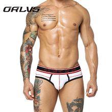 ORLVS 2PC Men's Sexy Underwear 100% Cotton Briefs New
