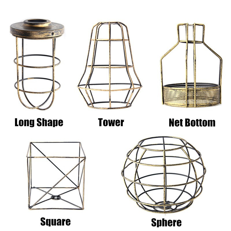 Smuxi Industrial Style Vintage Lamp Base Pendant Cage Celling Trouble Light  Edison Lampshade Guard Wire Cage Hanging Lamp ShadeSmuxi Industrial Style Vintage Lamp Base Pendant Cage Celling Trouble Light  Edison Lampshade Guard Wire Cage Hanging Lamp Shade