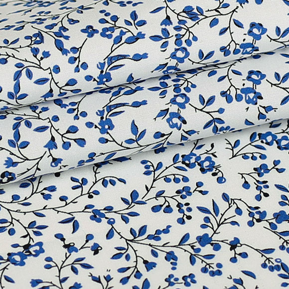 Cotton Florals Inelastic 140 Cm Width Fabric For Apparel And Fashion Sold By The Meter