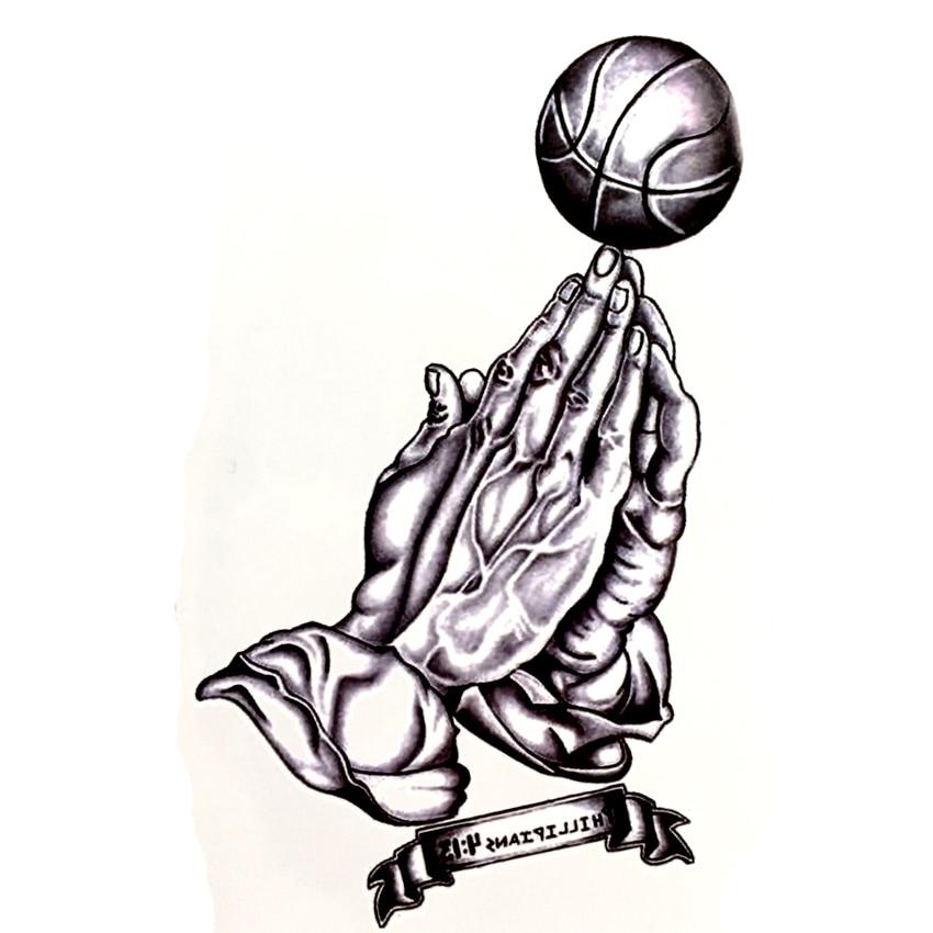 The king of basketball Waterproof Temporary Tattoo sticker arm tattoo sleeve tatouage tatoo sleeve jesus couronne flash tattoo