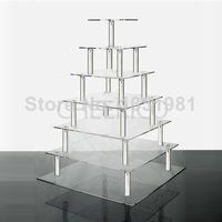 7 Tier Square Wedding Acrylic Cupcake Stand Tree Tower Cup Cake Display by Cheerico