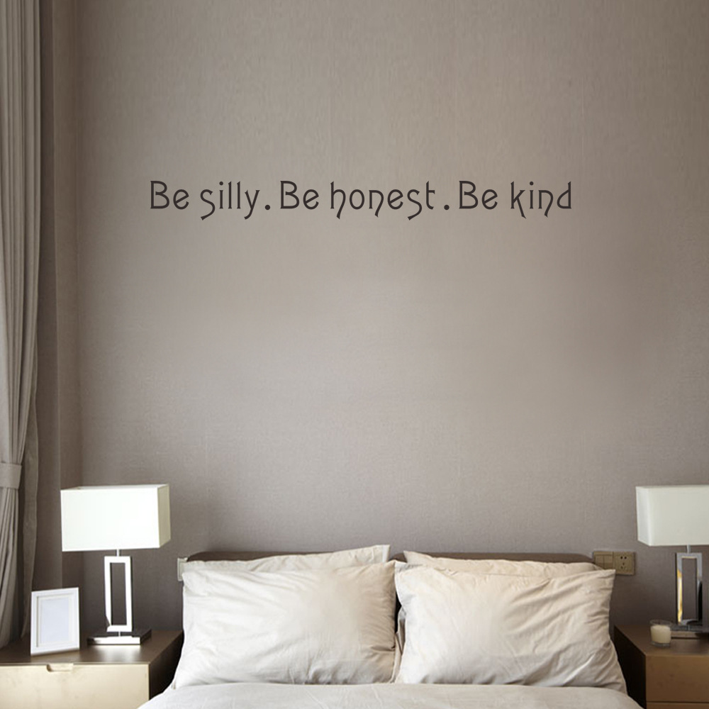 Letter quotes be silly be honest be kind english proverbs wall letter quotes be silly be honest be kind english proverbs wall post household adornment wall stickers in wall stickers from home garden on amipublicfo Image collections