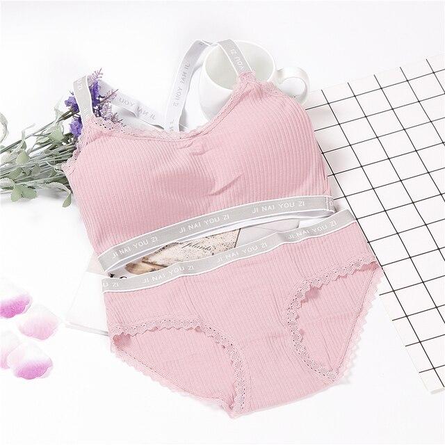 Đồ lót của Phụ Nữ Nóng Bán áo ngực tập Thiết Lập Đơn Giản Quần Sịp Áo Ngực Đặt Bralette Đồ Lót Thể Thao
