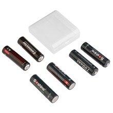 Recarregável e 2 Conectores para Eletrônica 4 PCS Soshine 14500 700 MAH Lifepo4 Bateria Comsumer