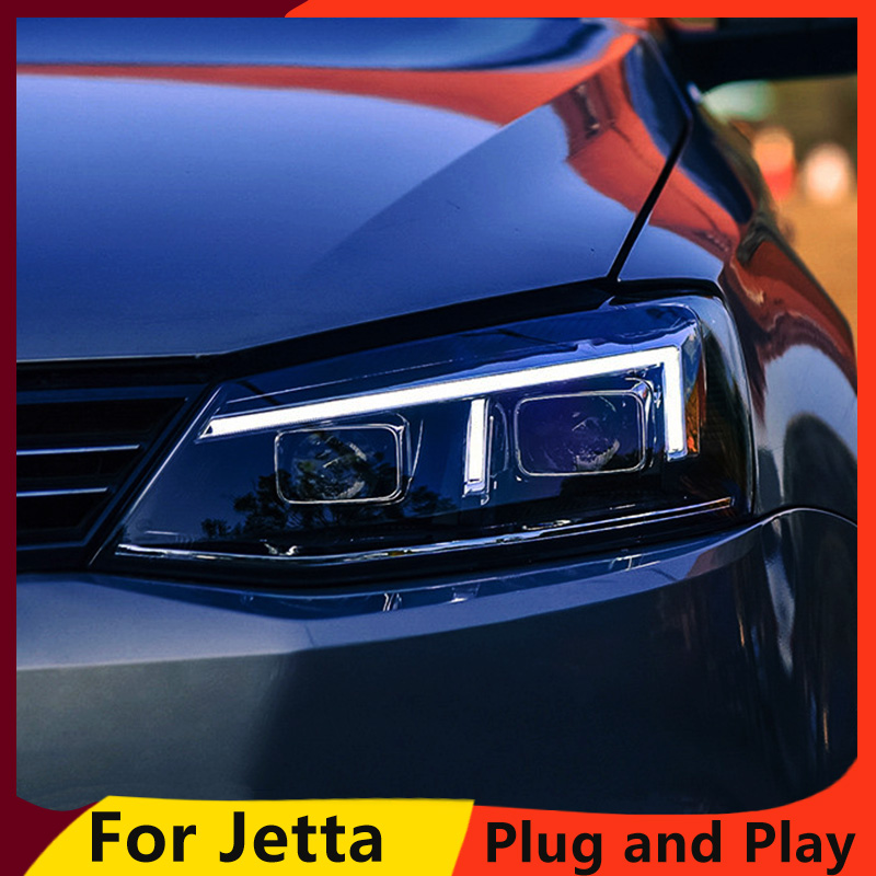 KOWELL Car Styling For For vw jetta headlights For VW jetta MK6 head lamps with LED