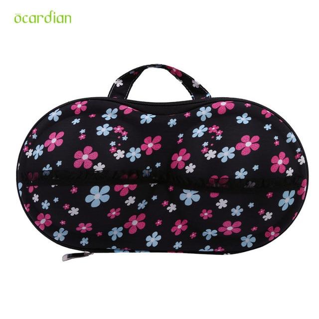 Happy Gift Storage Bag Box Protect Bra Organizer Container Underwear Case  Travel Portable Multicolor Fashion Floral