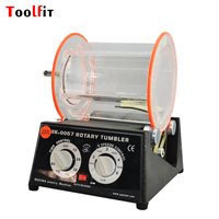 Toolfit Variable Speed Rotary Tumbler 220V Capacity 5kg For Polishing Jewelry Polisher Finisher Jewelry Machine&Equipment