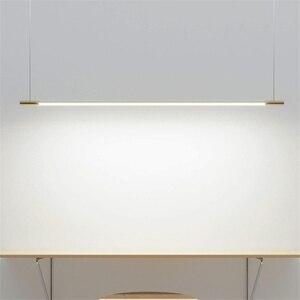 Подвесные светильники в скандинавском стиле, современный минималистичный подвесной светильник, простая длинная полоса, Подвесная лампа дл...