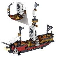 DIY 3D Model Pirate RMS Titanic Ship Action Figure ABS Bricks Building Blocks Educational Bricks Nanoblocks