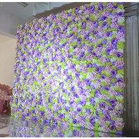 Multi-цвет плотный Роза Пион цветок фон Цветок Столб Реквизит магазин Отель Свадебный цветок стены питания свадьба