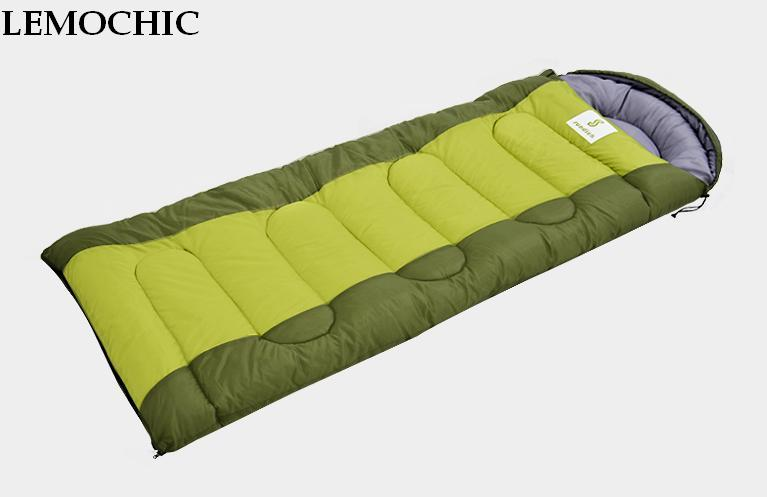 Four seasons outdoor sleeping bag adult Thermal Autumn Winter Envelope Hooded Travel Camping Water Resistant Thick Sleeping Bag aotu outdoor sleeping bag adult thermal autumn winter envelope hooded travel camping water resistant thick sleeping bag