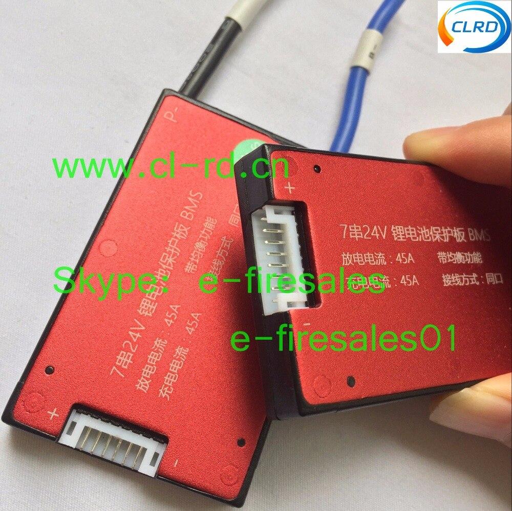 1pcs/lot Waterproof BMS PCM PCB li-ion 18650 lithium 7s 16a 25a 35a 45a 60a continuous discharge