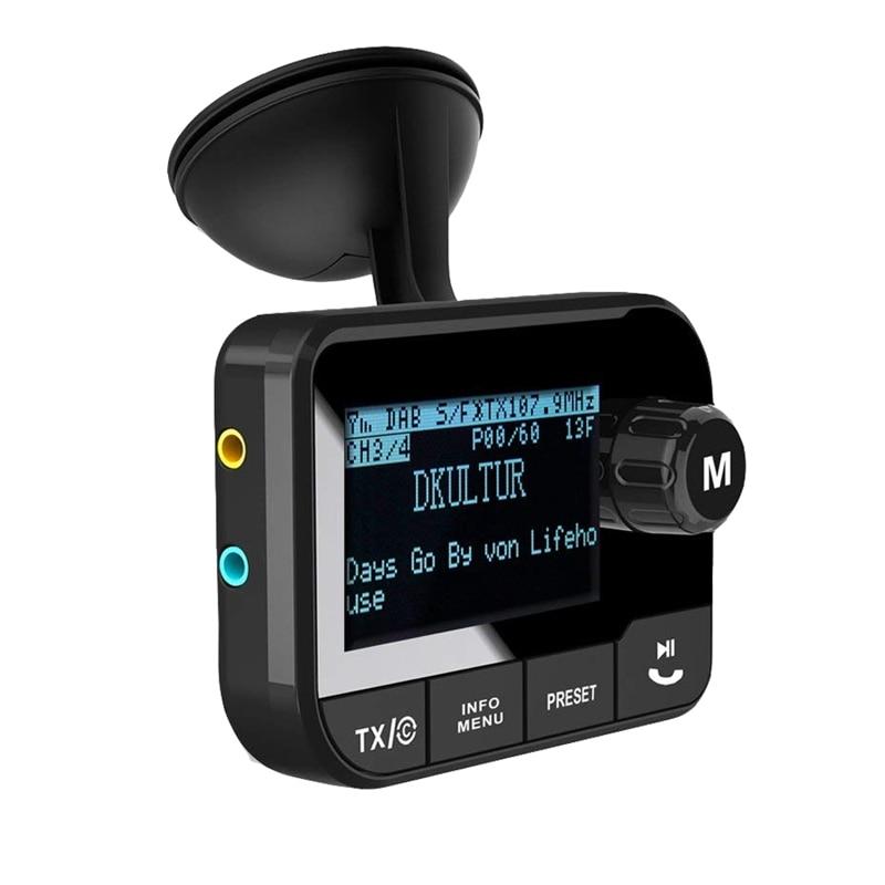 Adaptateur autoradio DAB/DAB +, émetteur DAB Radio numérique avec émetteur FM, mains libres Bluetooth, connexion AUX, 5V 3.1A
