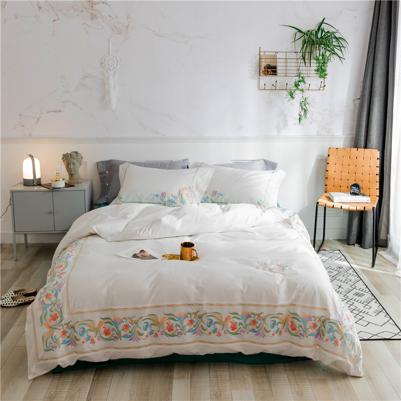 White Bedding Set queen king size egyptian cotton bed set decorative pillowcase Bed Sheet/linen Duvet Cover setWhite Bedding Set queen king size egyptian cotton bed set decorative pillowcase Bed Sheet/linen Duvet Cover set