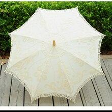 Бежевый свадебный кружевной зонтик, Свадебный зонт от солнца, свадебное украшение, женский зонтик Parapluie Mariage Sombrilla Encaje WU003